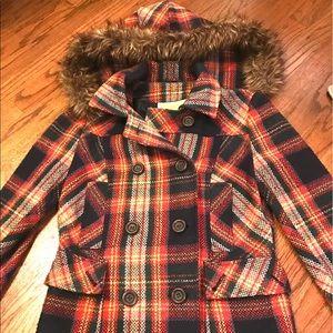 Delia's Plaid Pea Coat *LIMITED EDITION*